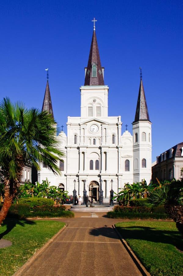 Retrato de la catedral de New Orleans St. Louis fotos de archivo