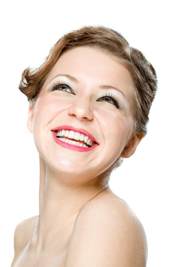 Retrato de la chica joven muy feliz foto de archivo libre de regalías
