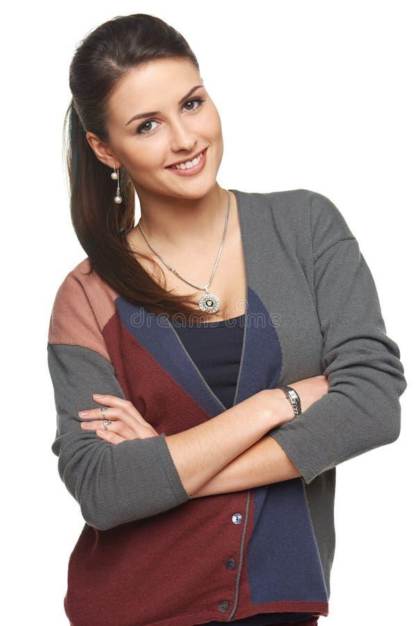 Retrato de la chica joven sonriente preciosa imagen de archivo libre de regalías