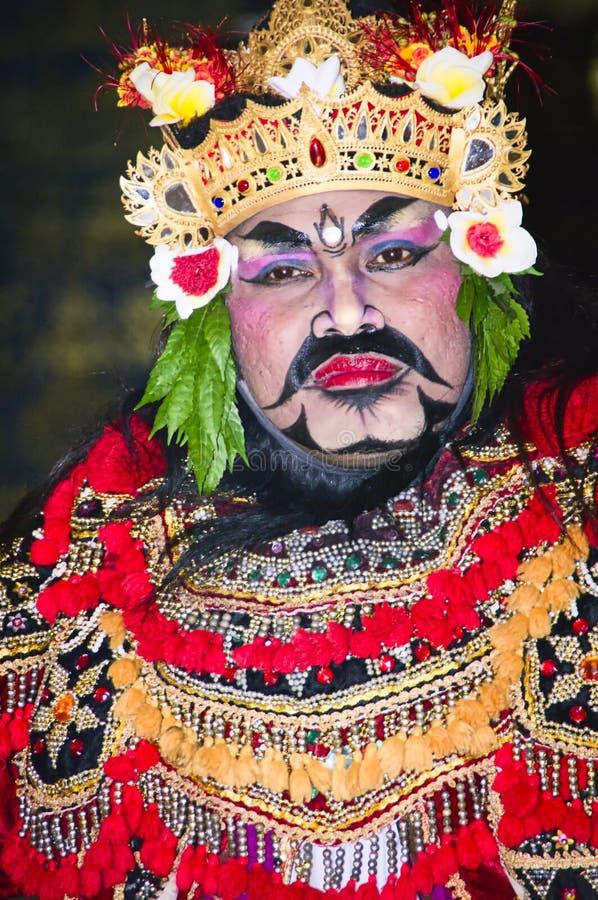 Retrato de la danza de Jauk una danza tradicional del Balinese, Indonesia fotos de archivo