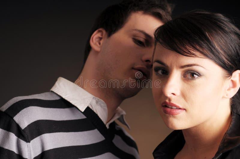 Retrato de la dos gente joven en amor fotografía de archivo