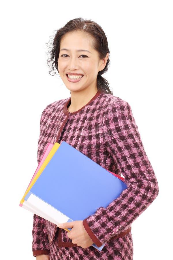 Retrato de la empresaria asiática