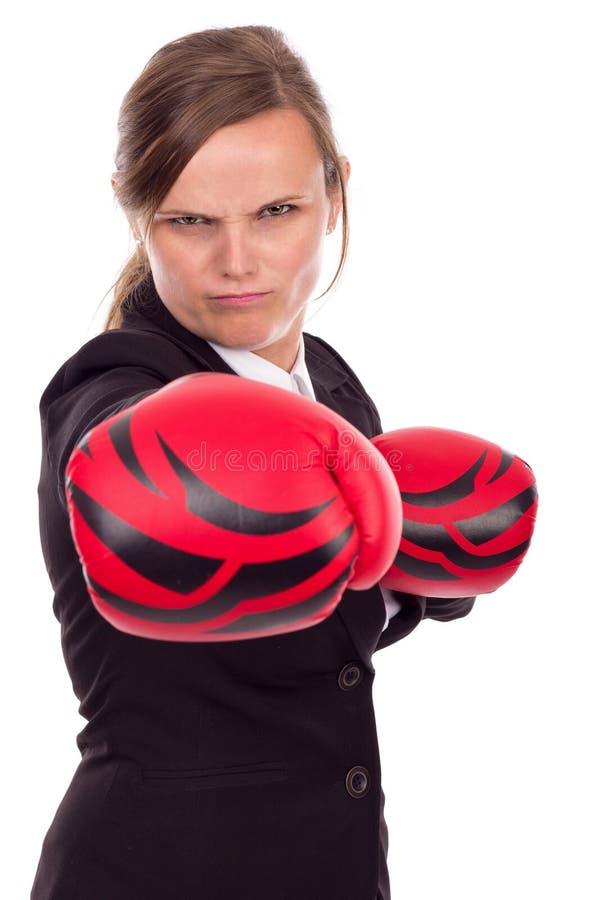 Download Retrato De La Empresaria Enojada Con Los Guantes De Boxeo Que Perforan El Aislador Imagen de archivo - Imagen de negocios, fondo: 41920151