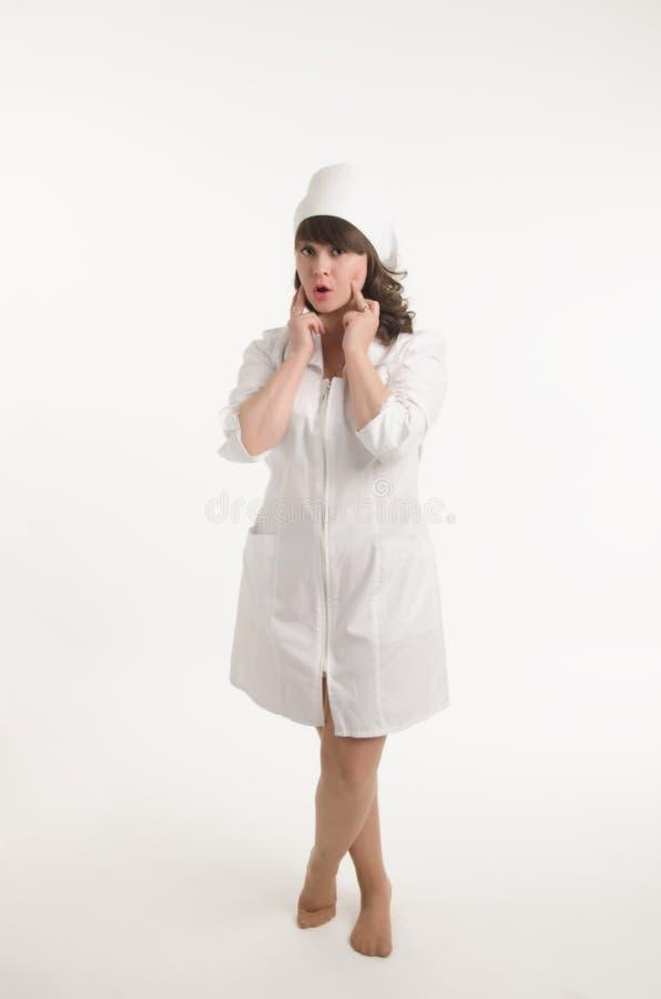 Retrato de la enfermera imagenes de archivo