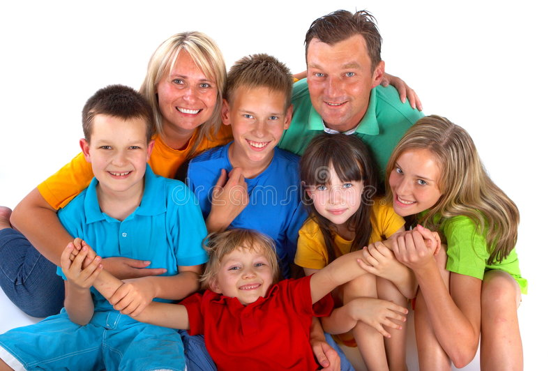 Retrato de la familia fotos de archivo