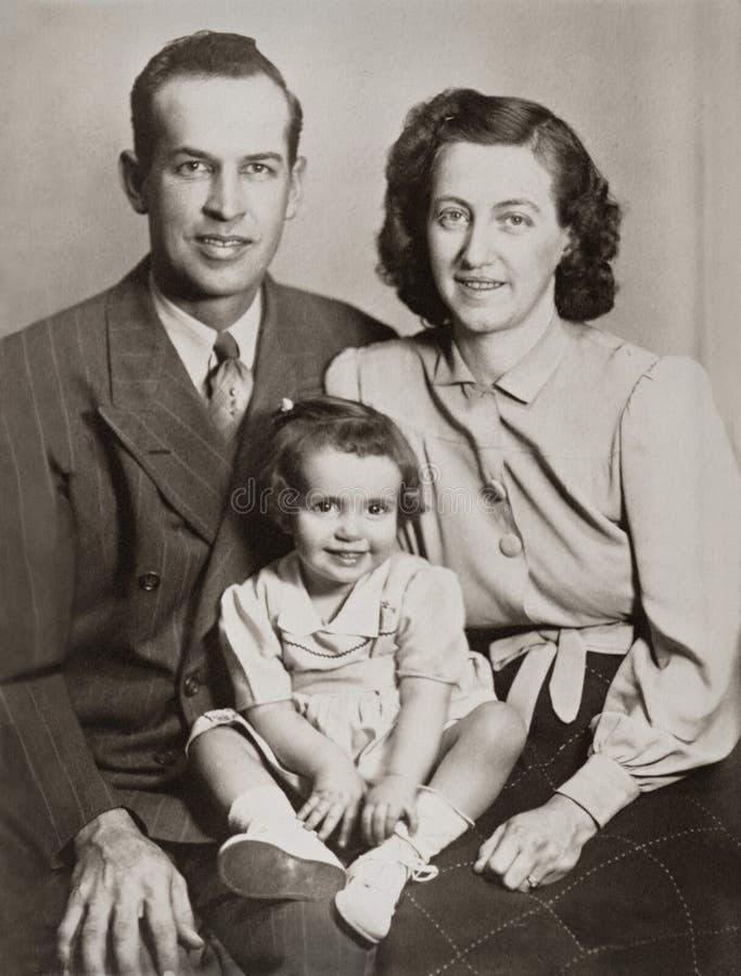 Retrato de la familia fotografía de archivo libre de regalías