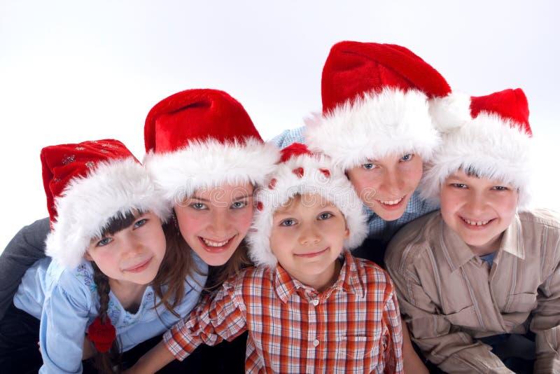 Retrato de la familia de la Navidad imágenes de archivo libres de regalías