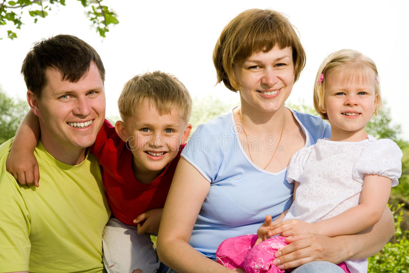 Retrato de la forma de vida de la familia imagen de archivo libre de regalías