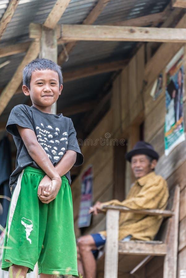 Retrato de la gente de Tana Toraja imagen de archivo