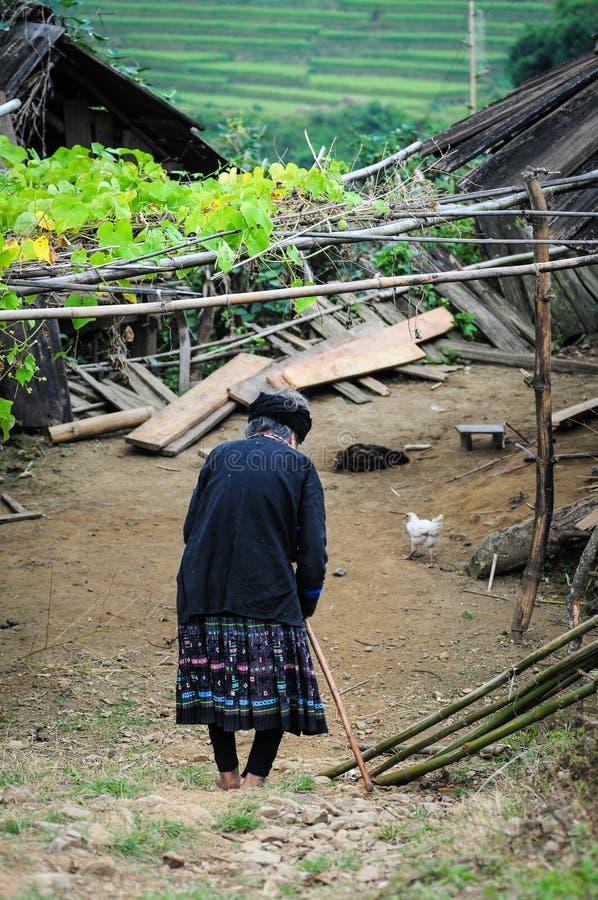 Retrato de la gente de Hmong en Vietnam imágenes de archivo libres de regalías