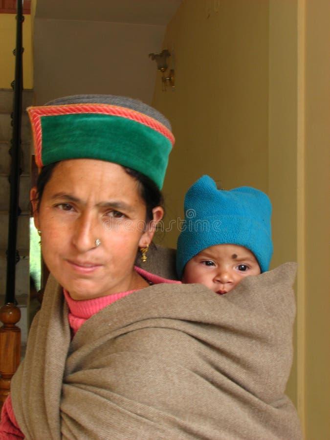 Retrato de la madre y del bebé fotografía de archivo libre de regalías