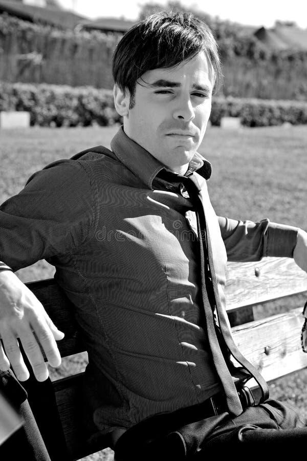 Retrato de la mirada hermosa del hombre de negocios imagenes de archivo