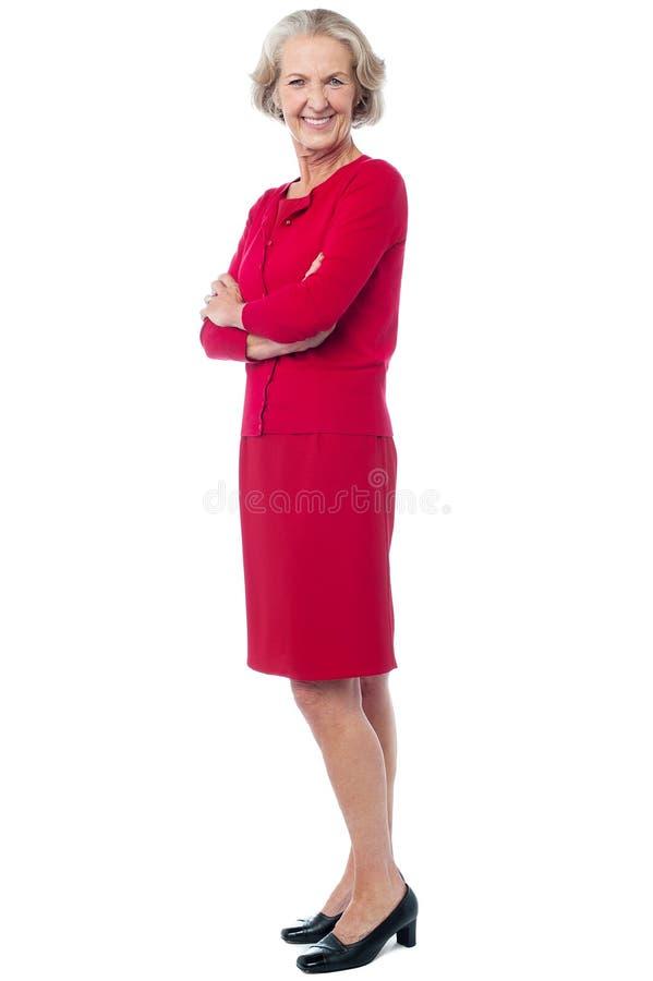 Retrato de la moda de la señora mayor sonriente fotografía de archivo
