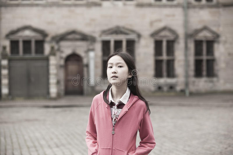 Retrato de la muchacha asiática fotos de archivo