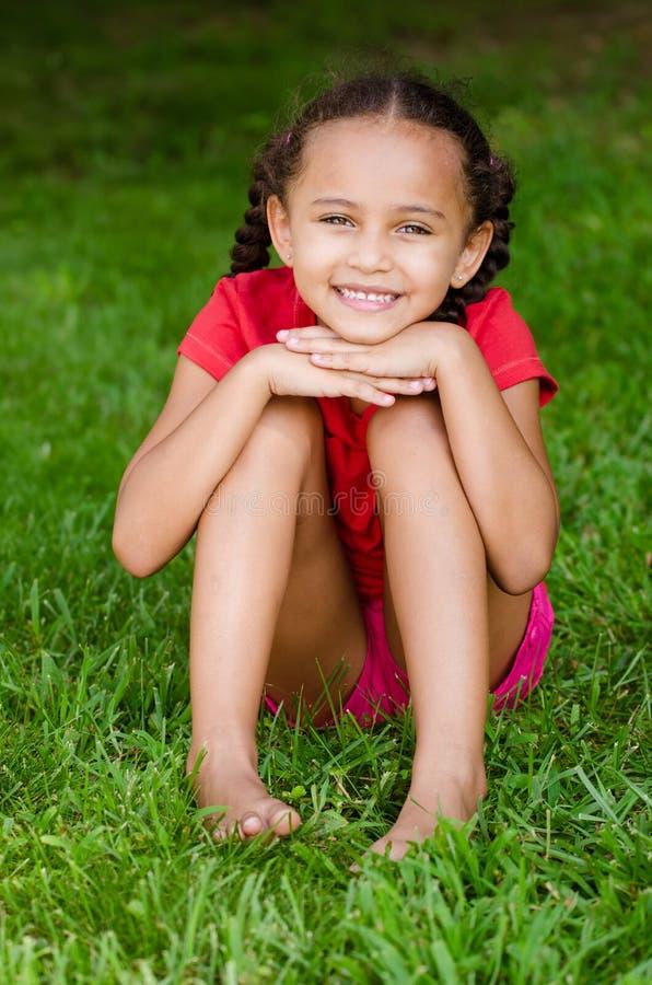 Retrato de la muchacha de la raza mixta fotografía de archivo