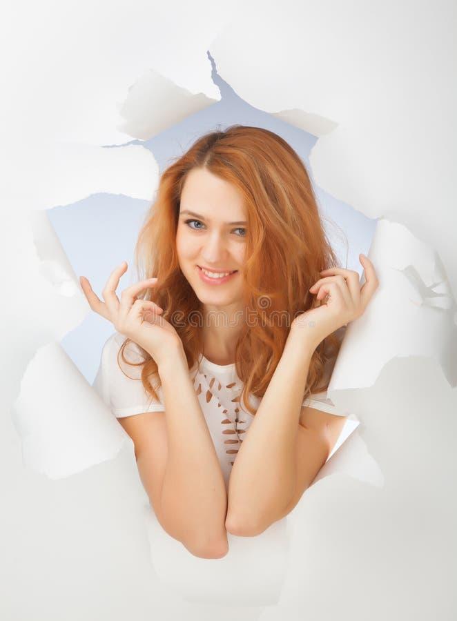 Retrato de la muchacha del pelirrojo fotografía de archivo libre de regalías