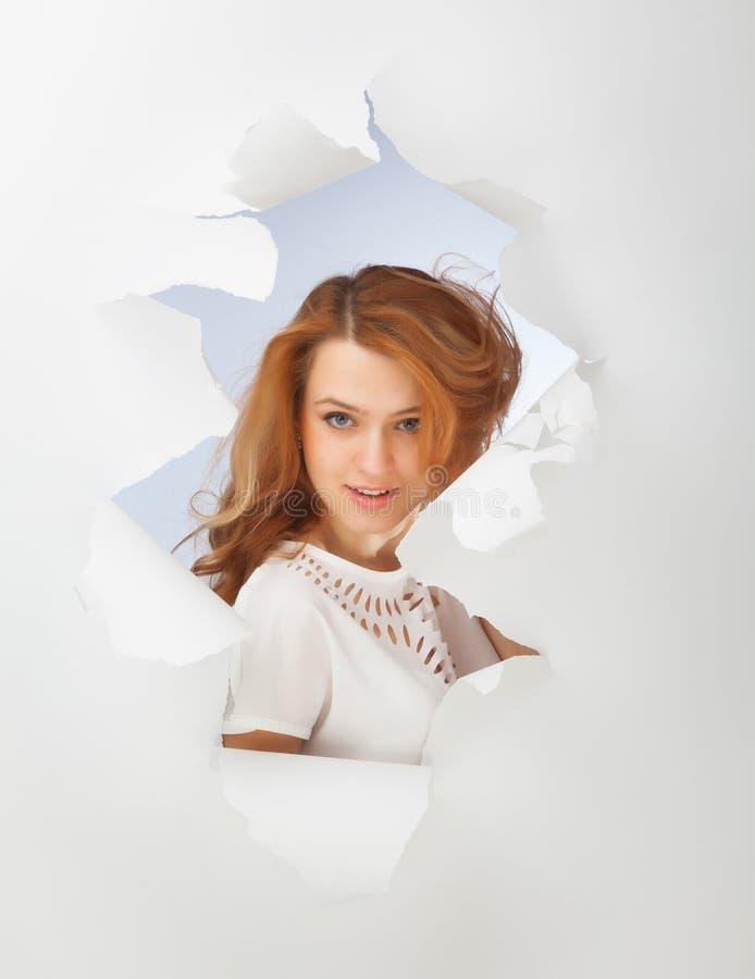 Retrato de la muchacha del pelirrojo imagen de archivo