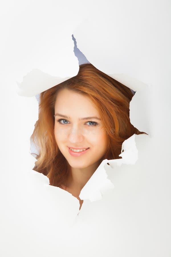 Retrato de la muchacha del pelirrojo imagenes de archivo