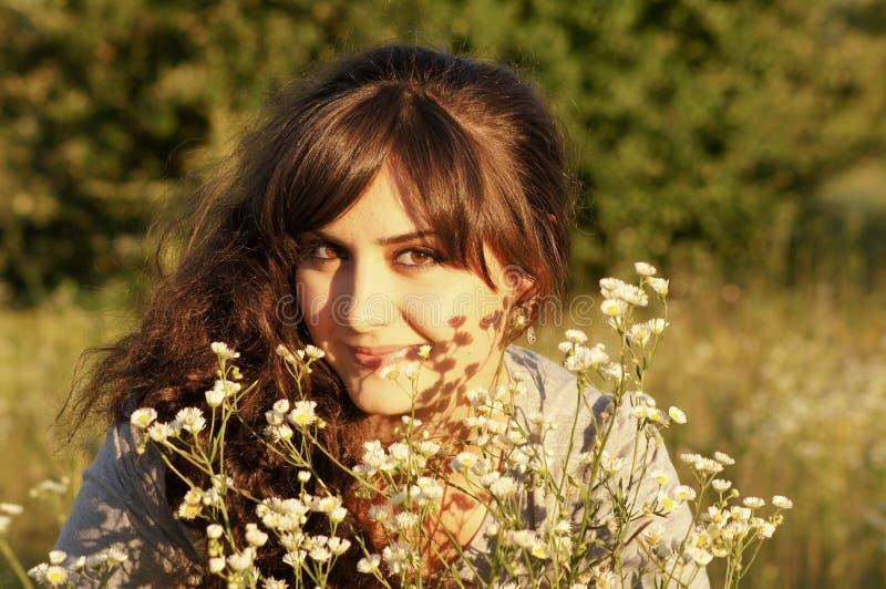 Retrato de la muchacha fresca fotografía de archivo