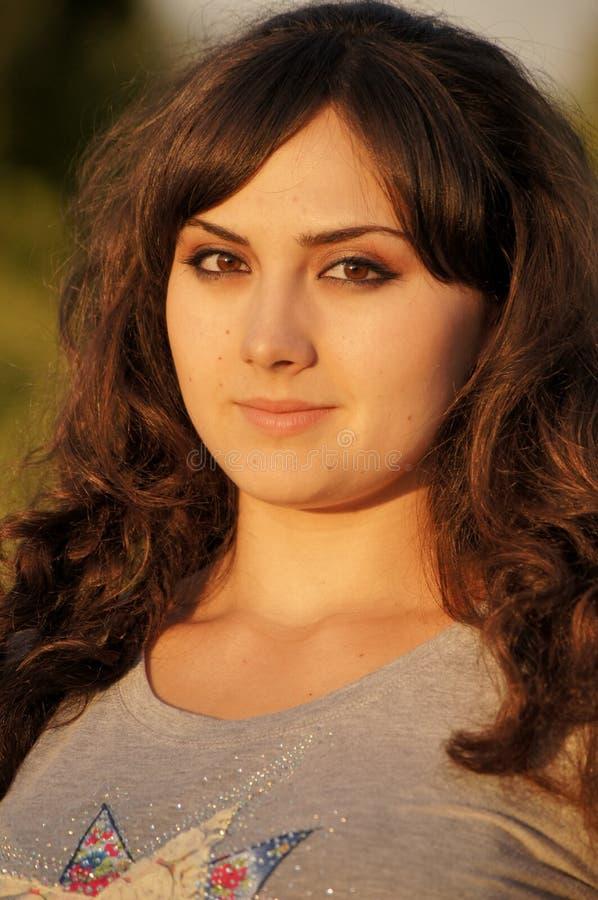 Retrato de la muchacha fresca fotografía de archivo libre de regalías