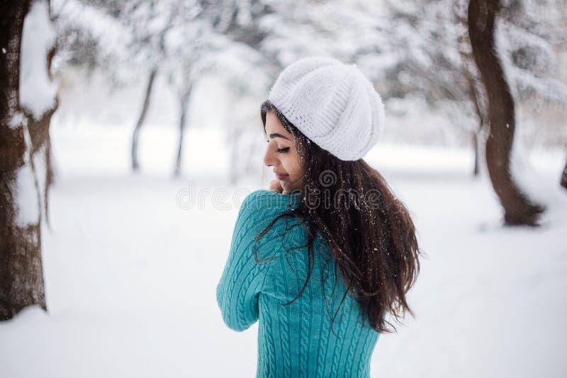 Retrato de la muchacha de la nieve imagen de archivo libre de regalías