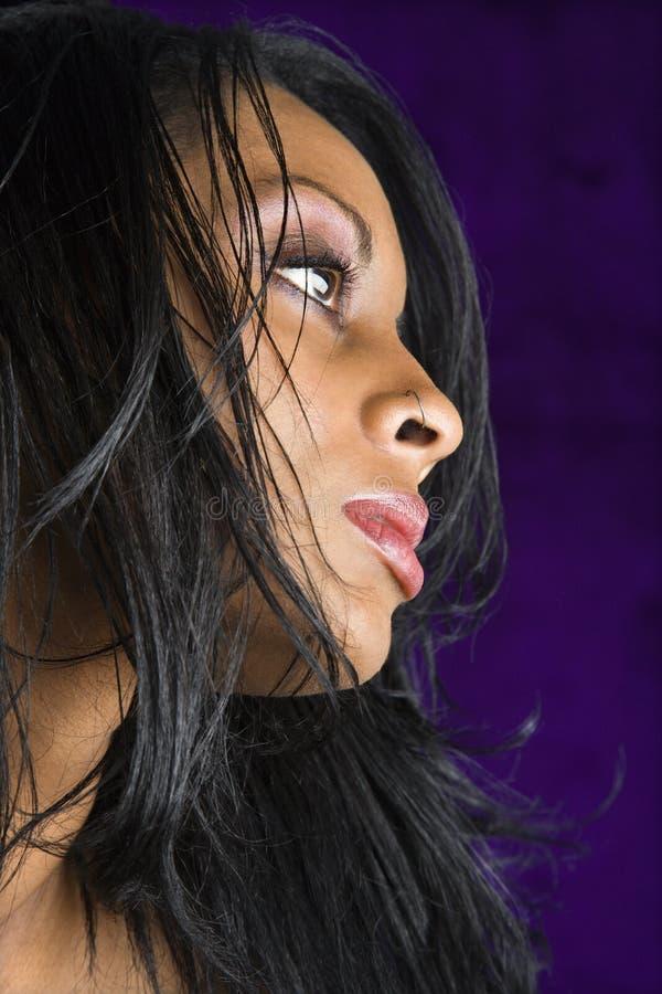 Retrato de la mujer. foto de archivo