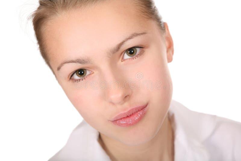Download Retrato de la mujer foto de archivo. Imagen de ojos, limpio - 7276756