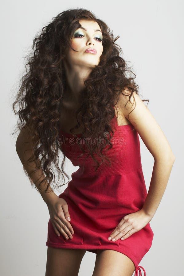 Retrato de la mujer atractiva con maquillaje hermoso fotografía de archivo libre de regalías