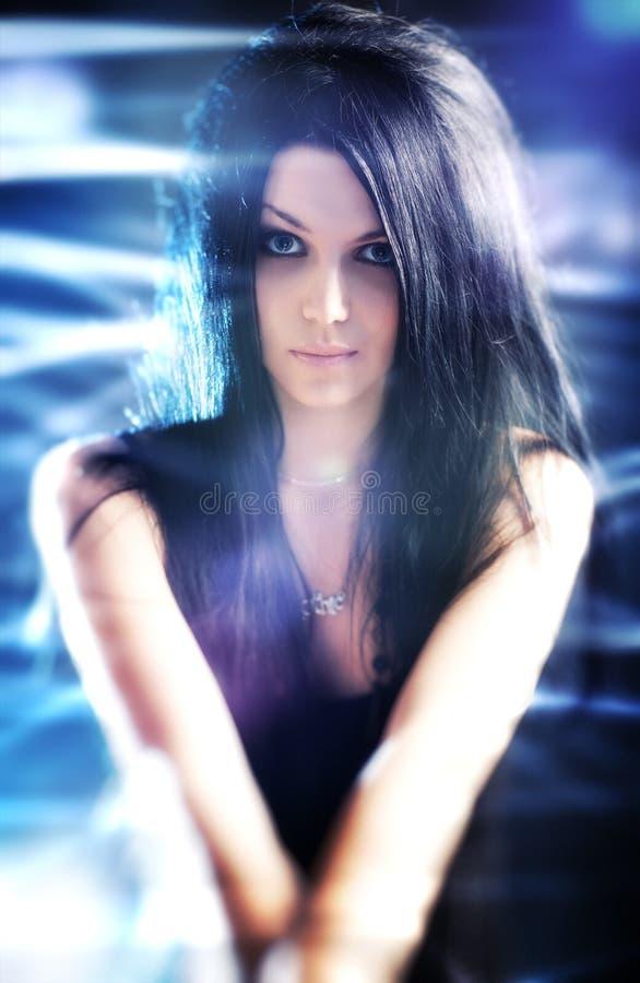 Retrato de la mujer de Goth fotografía de archivo