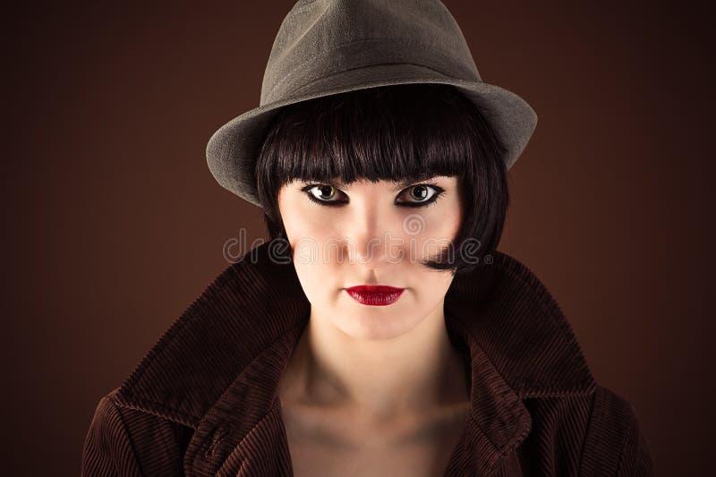Retrato de la mujer de moda hermosa imagen de archivo