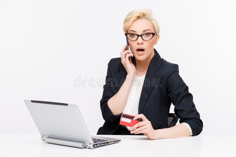 Retrato de la mujer de negocios fotos de archivo