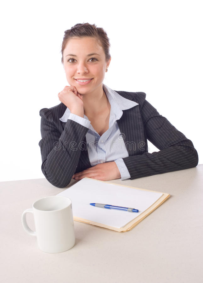 Retrato de la mujer de negocios imagen de archivo libre de regalías