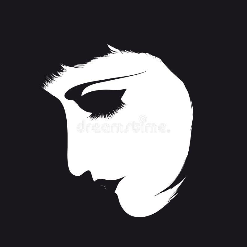 retrato de la mujer del Retro-estilo libre illustration