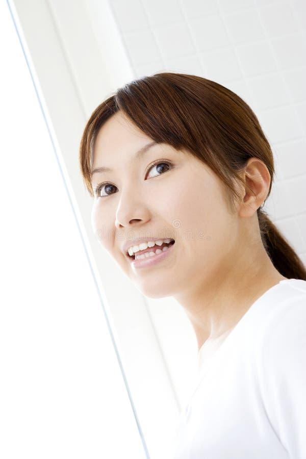 Retrato de la mujer japonesa foto de archivo libre de regalías
