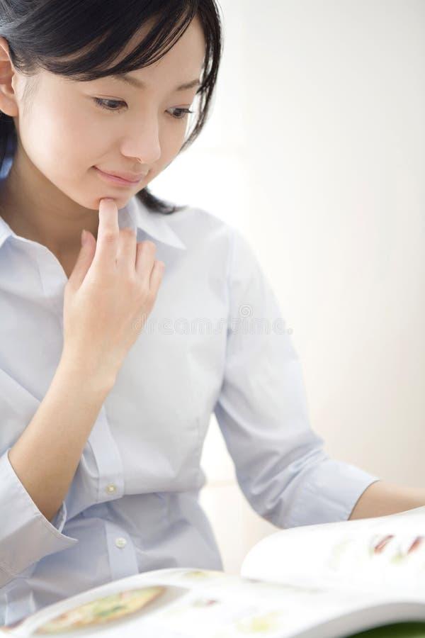 Retrato de la mujer japonesa imagen de archivo