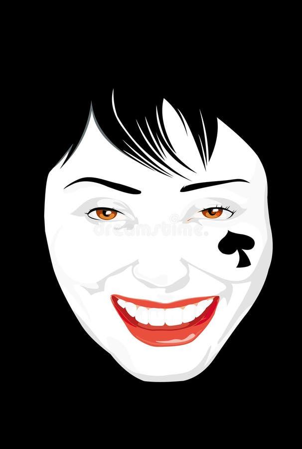 Retrato de la mujer joven ilustración del vector