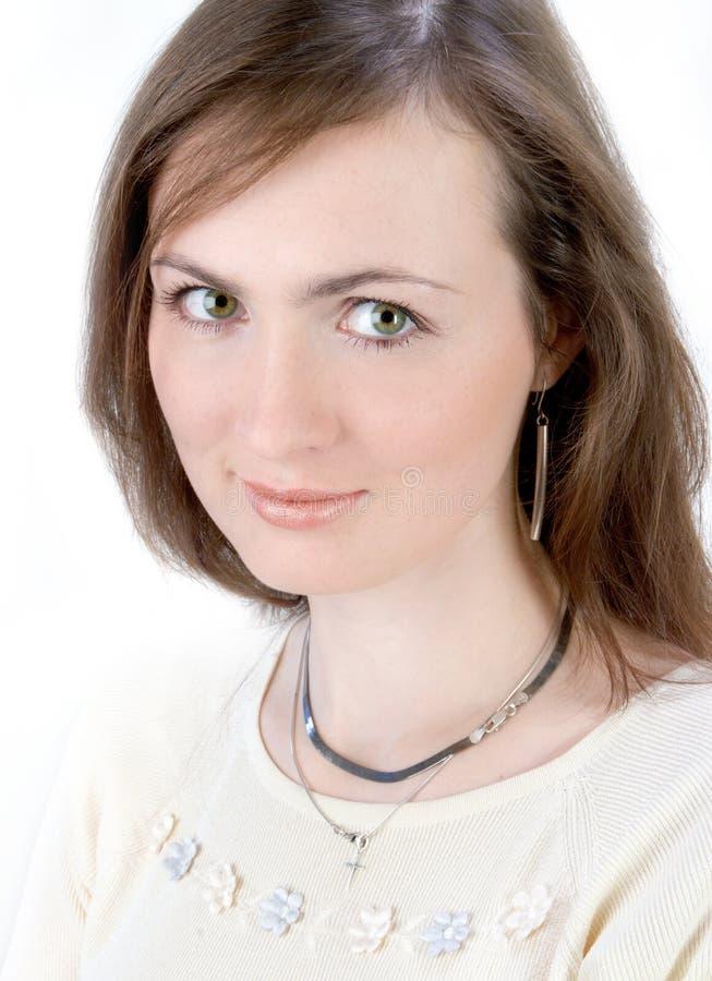 Download Retrato de la mujer joven imagen de archivo. Imagen de fresco - 1294883