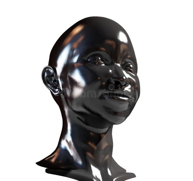 Retrato de la mujer negra ilustración del vector