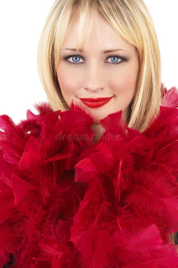 Download Retrato De La Mujer Rubia Hermosa Foto de archivo - Imagen de rojo, solamente: 7285378