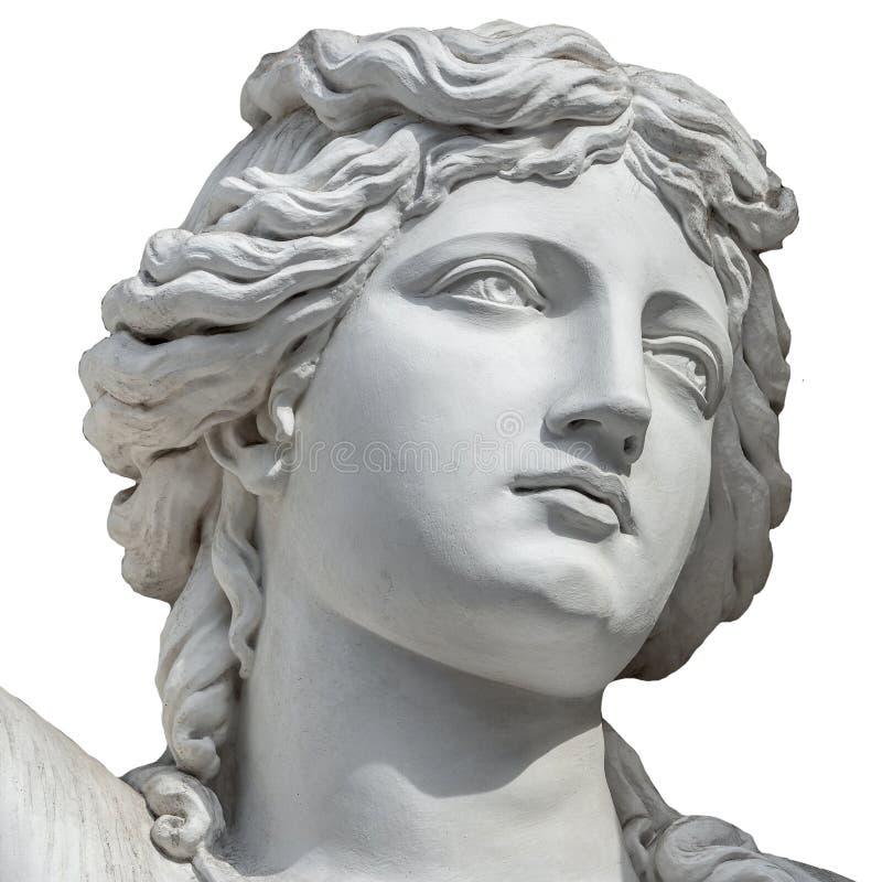 Retrato de la mujer sensual joven de Roman Renaissance Era en Viena, Austria, aislada en el fondo blanco fotos de archivo libres de regalías