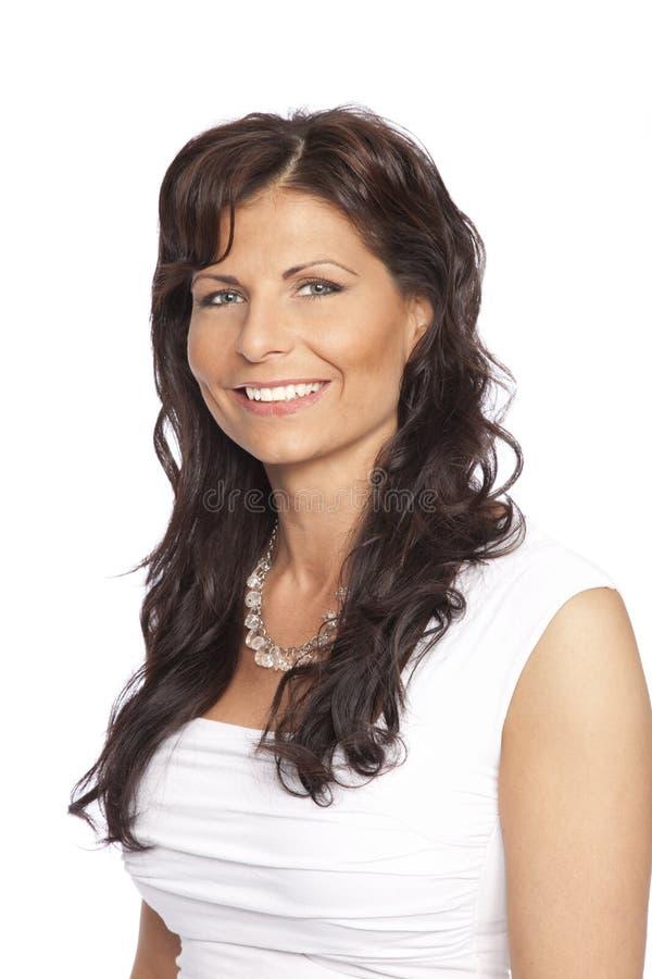 Retrato de la mujer sonriente foto de archivo