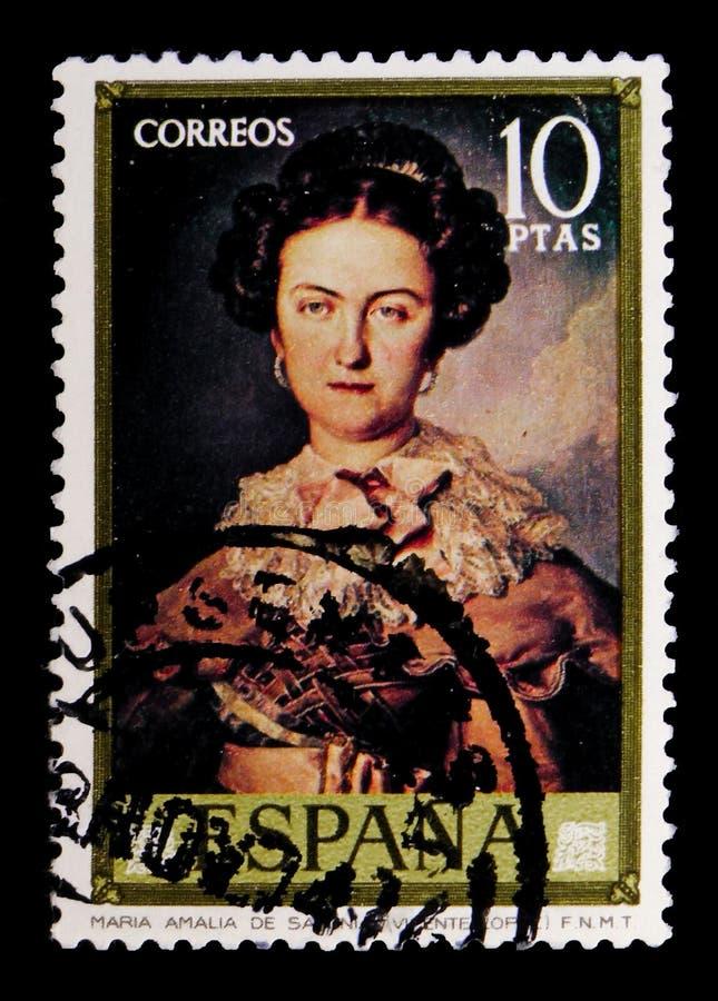 Retrato de la mujer, Vicente Lopez y Portana, serie, circa 1973 imagen de archivo libre de regalías