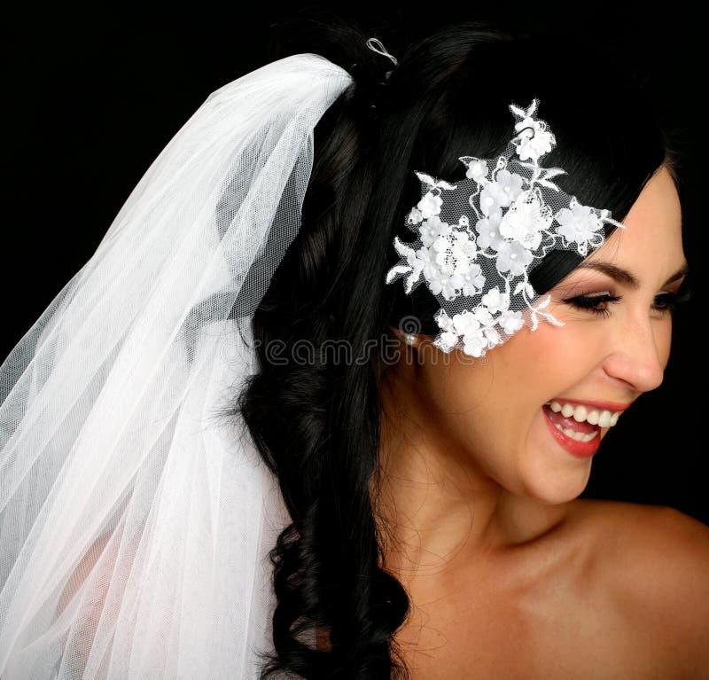 Retrato de la novia feliz hermosa imágenes de archivo libres de regalías