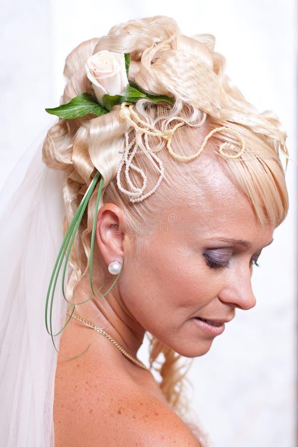 Retrato de la novia rubia fotografía de archivo