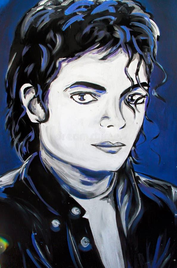 Retrato de la pintada de Michael Jackson imagen de archivo