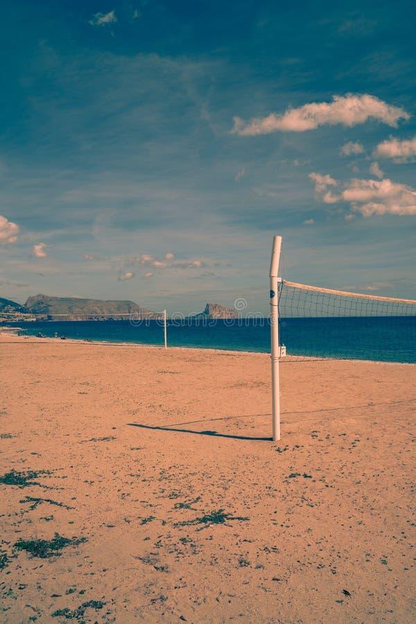 Retrato de la playa de Altea imagenes de archivo