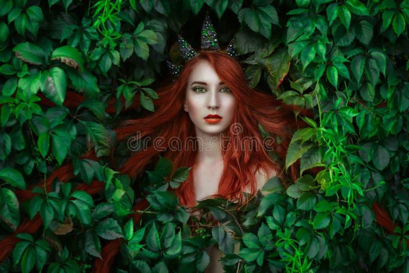 Retrato de la princesa del duende imagenes de archivo