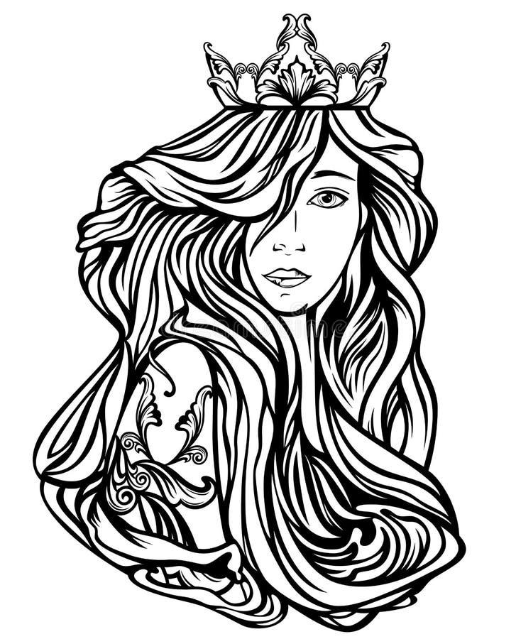 Retrato de la reina libre illustration