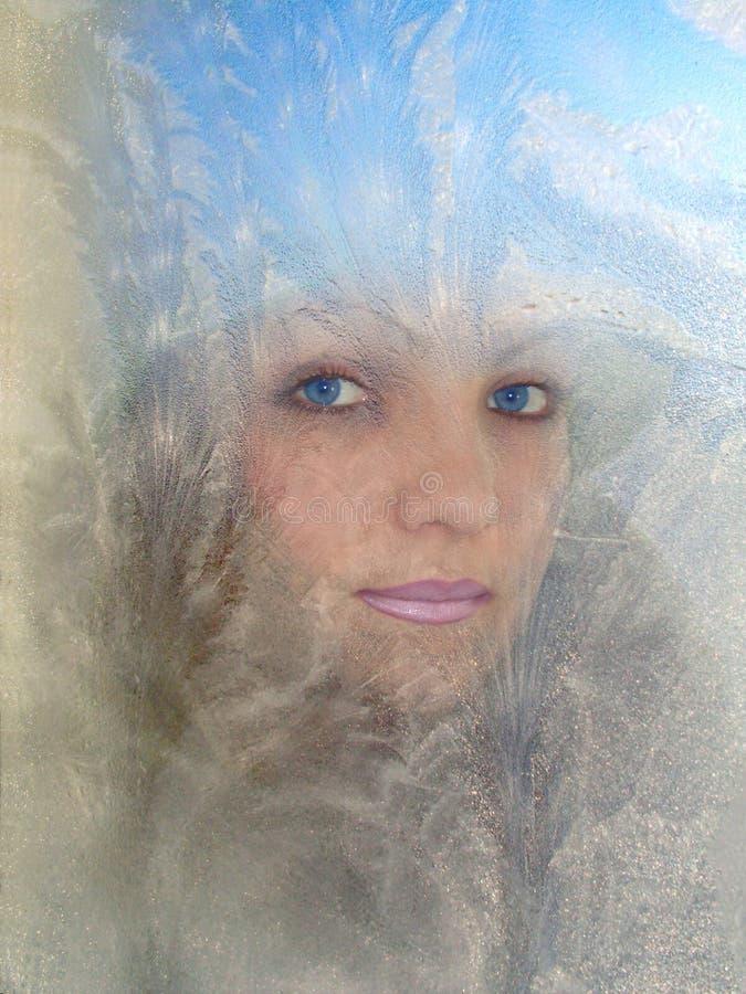 Retrato de la reina de la nieve imagen de archivo