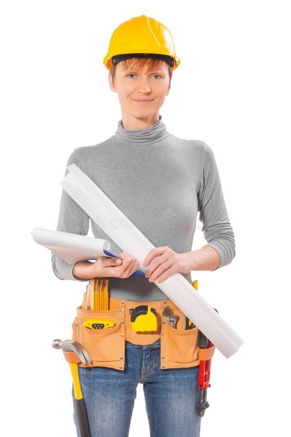 Retrato de la ropa de funcionamiento que lleva femenina fotografía de archivo libre de regalías